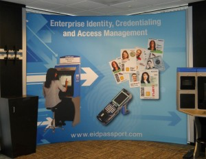 Tension Fabric Display Eid Passport | Hartmann Exhibits & Displays