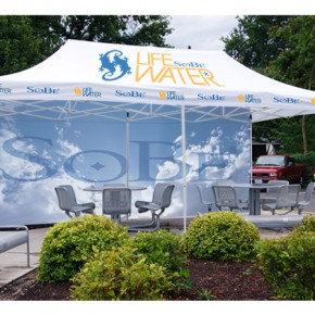 SoBe event tent | Hartmann Exhibits & Displays