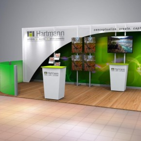 Hartmann 10x20 Booth | Hartmann Exhibits & Displays
