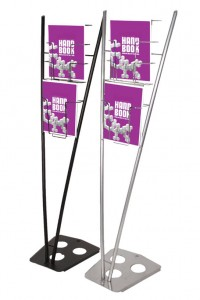V-shaped literature rack | Hartmann Exhibits & Displays
