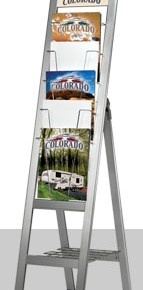 folding literature holder | Hartmann Exhibits & Displays