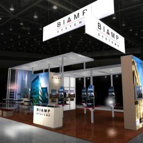 Biamp Island Booth | Hartmann Exhibits & Displays